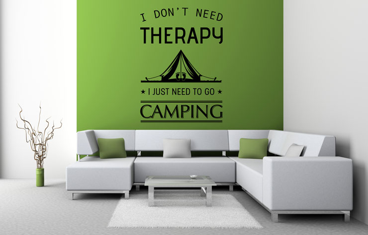 Naklejka Camping Therapy