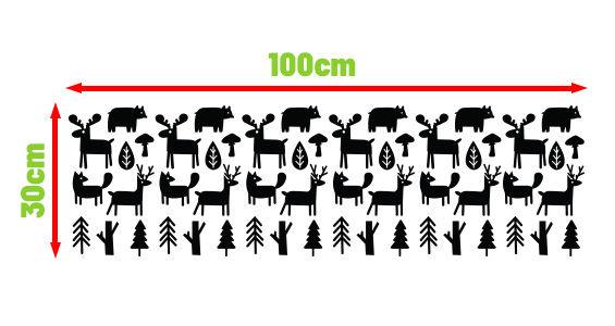 naklejki skandynawskie leśne zwierzęta