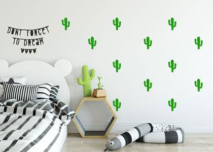 naklejki skandynawskie kaktusy