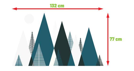 naklejki skandynawskie drzewo zwierzeta