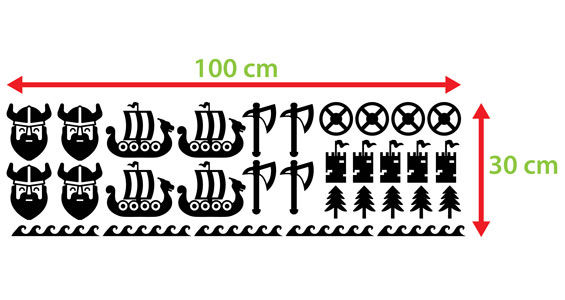 naklejki skandynawskie wiking