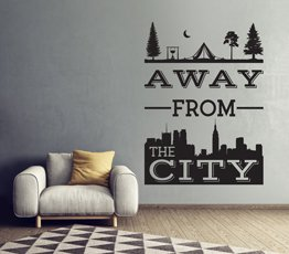 Naklejka na ścianę Away From City