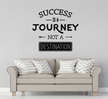 Naklejka na ścianę Success Is A Journey