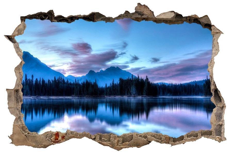Naklejka Na ścianę Dziura 3d Lustrzane Jezioro 0180