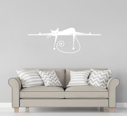 Naklejka Na ścianę Leniwy Kot Oklejajpl