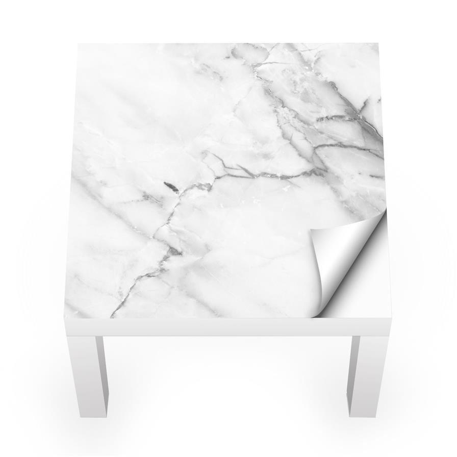 Naklejka Na Stolik Lack Ikea Biały Marmur 0034