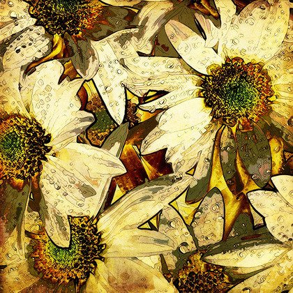 Fototapeta - Art flowers - 0438