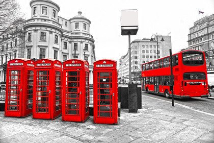 Fototapeta - Red London - 0200