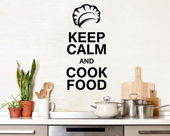Naklejka na ścianę - Keep calm and cook food - 0080
